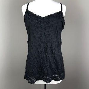 Crinkle Cami w/ Lace Trim | Dress Barn size XL